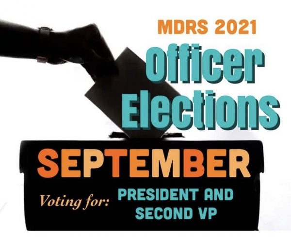 MDRS 2021 Officer Elections SEPTEMBER Voting for :President and Second VP